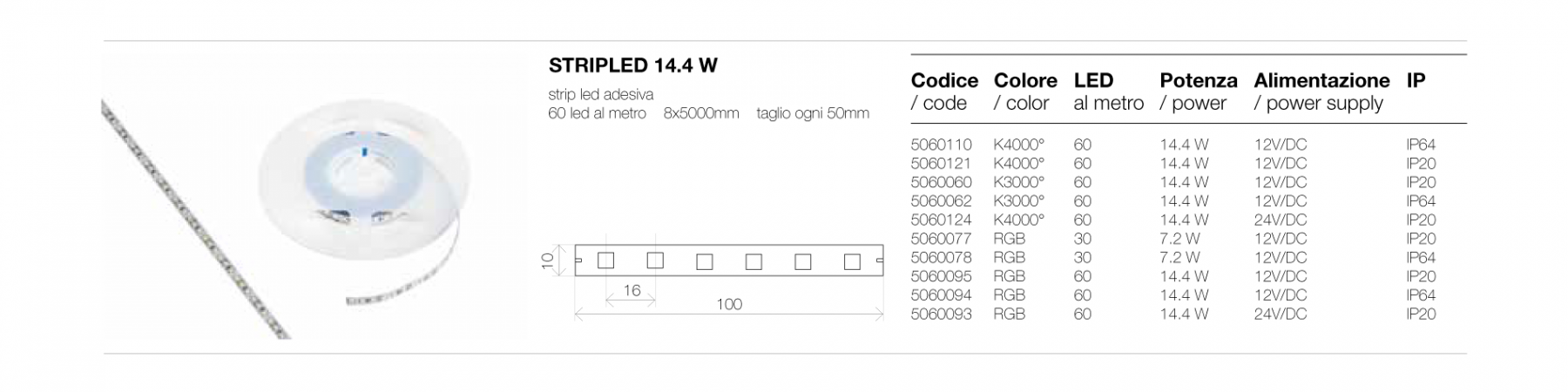 STRIP LED 14.4 W