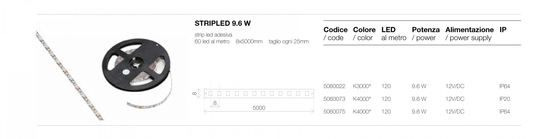 STRIP LED 9.6 W